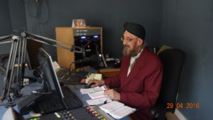 Amolak Singh in the studio