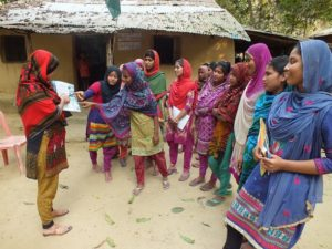 Voices of rural people on CR through training of youth women